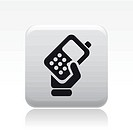 Vector illustration of single phone icon