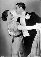 ANTON WALBROOK (Adolf Wohlbruck) German actor in British films, seen here with Paula Wessely in 'Maskerade' (1934)