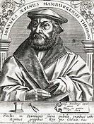 JOHANN AEPINUS Theologian of Hamburg, Germany.