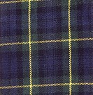 The Gordon tartan of Scotland.