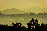 Beautiful sunset over San Diego California