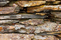 Stone Wall Construction in close up