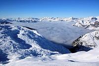 Winter landscape, Chamonix, Alps, France.