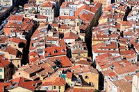 Aerial view of Nice city, French Riviera, Provence, France.