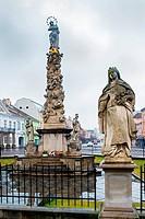 Plague Column in Kosice, Slovakia