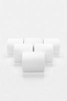 Six brilliantly white toilet rolls