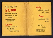 Photographic print wallet, advertising a Kodak competition.