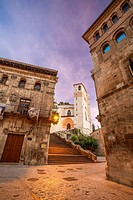 St. James way; Church of San Pedro de la Rua at Estella, Navarra, Spain.