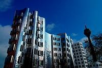 Modern Architecture in Dusseldorf, Germany - Düsseldorf, Nordrhein-Westfalen, Germany, 02/05/2006