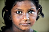 Tharu young girl, Chitwan National Park, Nepal