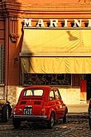 Street scene in the neighborhood near Vatican City.