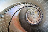 Lighthouse stairs, île de Ré, Charente Maritime, France.