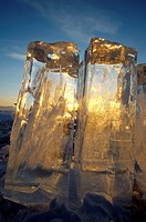 Ice formation, Olkhon island, Lake Baikal, Siberia, Russian Federation, Eurasia.