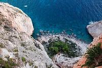 bay at Kap Keri - Ionische Inseln; Zakynthos; Zant, Griechenland, 03/09/2009