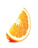 Fresh ripe orange slice isolated on white