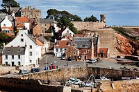 Crail Harbour at Low Tide Fife Scotland.