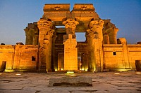 Egypt. Kom Ombo. Temple of Sobek and Haroeris built during the Ptolemaic dynasty.