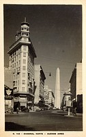 Buenos Aires, Argentina. Avenida Roque Saenz Pena (also known as Diagonal Norte) - a main artery in the San Nicolas quarter of Buenos Aires, Argentina...