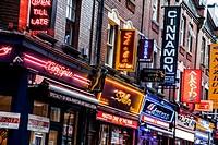 Street view at Brick Lane, East London, London, UK.