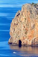 Northwest coast of Majorca. Cap Gros cape. Soller area. Balearic islands, Spain