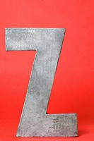 Letter Z with red background