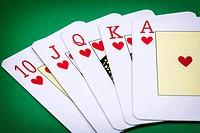 cards poker deck English, poker royal flush.
