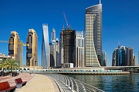 Dubai Marina is a district in the heart of what has become known as ´new Dubai´ in Dubai, United Arab Emirates. Dubai Marina is a canal city, carved a...