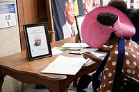 6 Dec 2013 - Cape Town , South Africa - Book Of condolence and Memorial Service of Nelson Mandela in St Georges Cathedral.