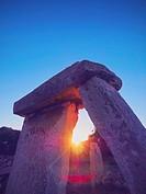 Talati de Dalt - T-shaped stone monument on Menorca, Balearic Islands, Spain.