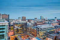 A view over Birmingham city centre, West Midlands, England, UK.