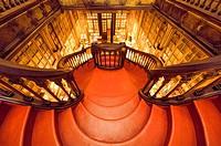Lello and Irmao bookshop, Spiral stairs, Oporto, Portugal.