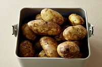 New potatoes (Jersey Royals), washed