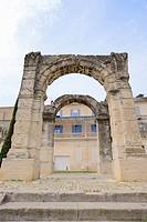 Roman triumphal arch, Arc Romain, Cavaillon, Vaucluse, Provence-Alpes-Côte d'Azur, Southern France, France
