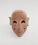 Male mask in terracotta, by Unknown Artist, 6th Century b.C. -, . Italy, Sicily, Trapani, Mozia, Whitaker Museum. All. Mask male figure apotropaic gra...