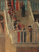 Legend of St Ursula. Dismissal of the English Ambassadors, by Vittore Carpaccio, 1495 - 1495 about, 15th Century, oil on canvas, cm 280 x 253. Italy, ...
