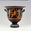 Apulian red-figured bell-shaped krater, by Schiller Painter, IV Century, 375-370, cm 41 diamentro orlo 41.7 cm - piede 18 cm. Italy, Lombardy, Milan, ...