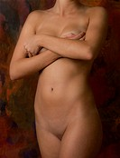 Half nude, woman, 25 years
