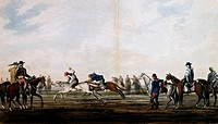 Horse Race, 1819, by Vidal. Argentina, 19th century.  Buenos Aires, Museo Des Bellas Artes Bonaerense (Buenos Aires Museum Of Fine Arts)
