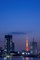Tokyo Tower at twilight. Tokyo, Japan
