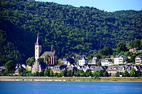 Town on Rhine River Valley Germany Europe Vineyards Wineries Cruise DE.