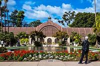 Botanical Building and Lily Pond, Balboa Park. San Diego, California, United States.