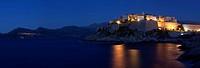 Citadel at night, Calvi, Balagne, Corsica, France