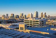 San Diego Downtown Skyline. San Diego, CA, USA.