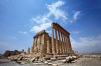 Temple of Bel. Ruins of ancient Aramaic city of Palmyra. Tadmur, Syria. UNESCO World Heritage Site