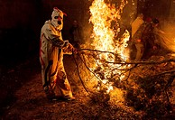 Fires, Sant Antoni traditional feast, Els Ports, Castellón province, Comunidad Valenciana, Spain