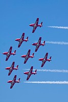 Airshow showing Canadian Snowbirds, Quonset Point, Rhode Island, United States
