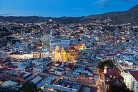 Overview of the city of Guanajuato, early evening - Guanajuato, Guanajuato, Mexico.