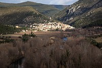 Roquebrun, French village in the Languedoc