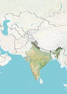 India, Relief Map