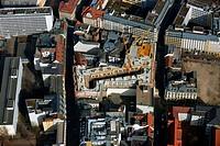 LEIPZIG 09.03.2014 Blick auf die Baustelle zum Hotel - Neubau der Motel One Gruppe im Areal an der Ritterstraße - Nikolaistraße im Zentrum von Lepzig ...